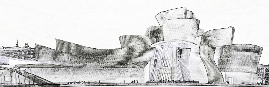 GEHRY_Guggenheim Bilbao_schizzo_ofi