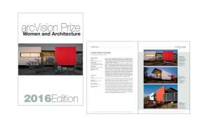 CATALOGO ARCVISION PRIZE – WOMEN AND ARCHITECTURE 2016 EDITION