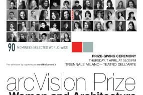 SAVE THE DATE: ARCVISION PRIZE WOMEN AND ARCHITECTURE PRIZE-GIVING CEREMONY