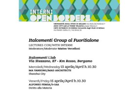 FUORISALONE 2016: ITALCEMENTI AT INTERNI OPEN BORDERS